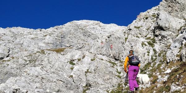 Die erste Steilstufe, Kletterstellen I