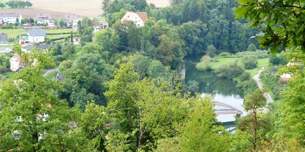 Aussicht auf Schloß Gutenstein