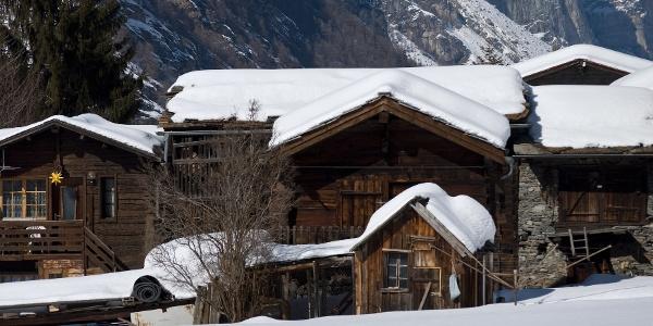 Le village de Täsch en hiver