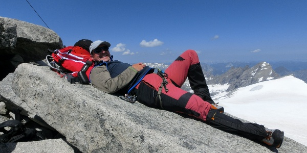Entspannung am Gipfel