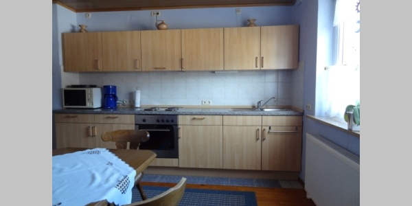 Küche in der großen Wohnung