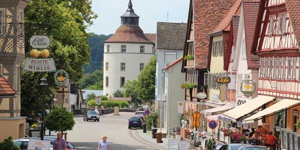 Altstadt mit Blick auf Schloss Langenburg