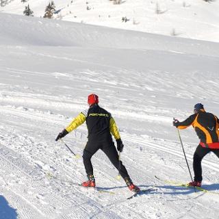 Langlaufen in der Villacher Alpenarena