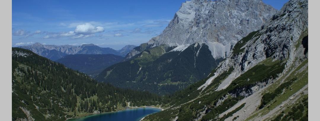 Blick zum Seebensee von der Coburger Hütte