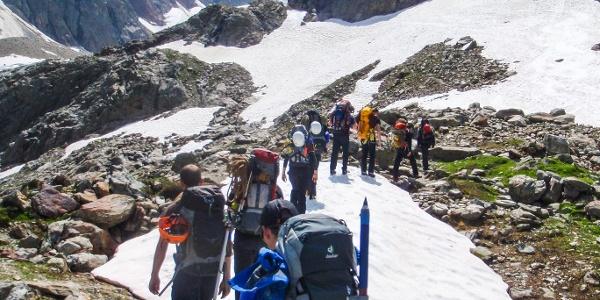 Auf dem Weg zum Steingletscher