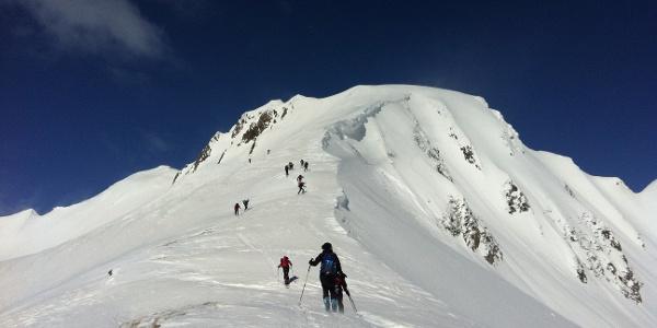 Endspurt zum Gipfel