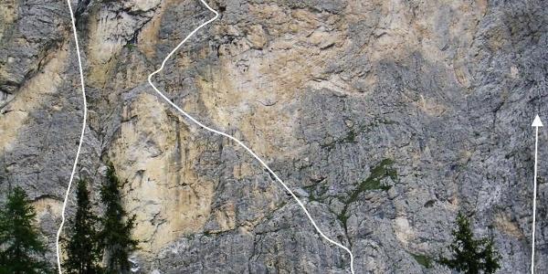Wandfoto mit Route