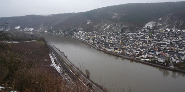 Looking from the vineyards over the Koblenz district of Lay