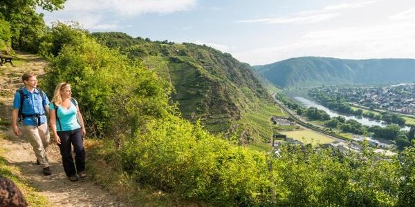 """Way of the Cross"" to the Chapel of St. Matthew, looking over the vineyards of Kobern and Winningen"