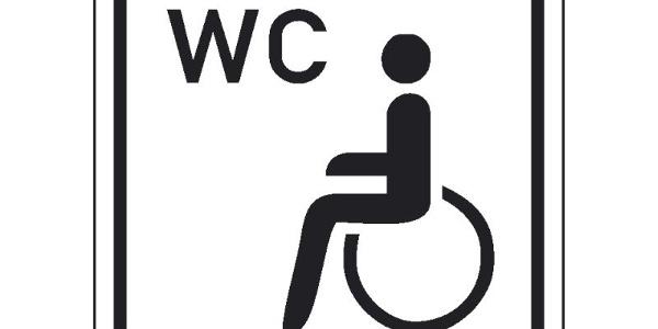 Toilette mit Behinderten-WC