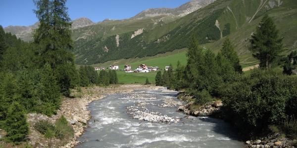Der Gletscherbach bringt Frische