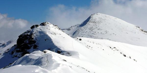 Jochspitze 2037 m vom Verbindungsgrat zur Karlspitze