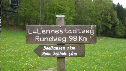 Mit Übernachtungszuwegung für Wanderer sind es tatsächlich 98 Km