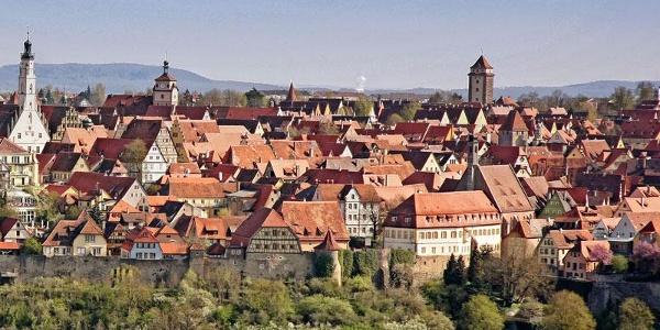 Blick auf Rothenburg o.d.T.
