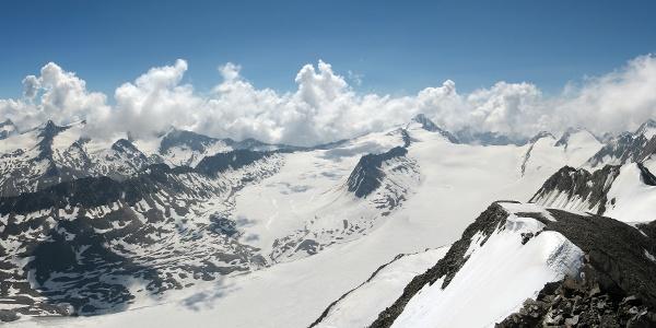 360° - Panorama vom Gipfel des Schalfkogels