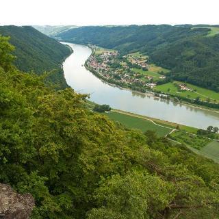 Blick vom Ebenstein auf die Donau