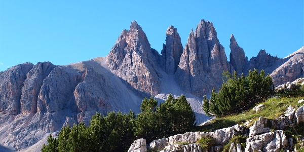 Anstieg Altensteinertal mit Dolomitenstimmung