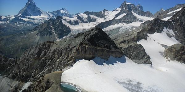 Aussicht vom Mettelhorn mit dem Platthorn im  Vordergrund